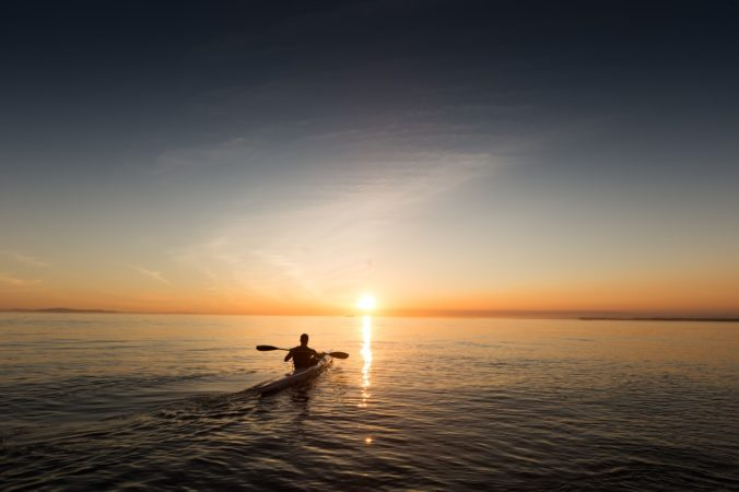 Pagaie kayak de mer